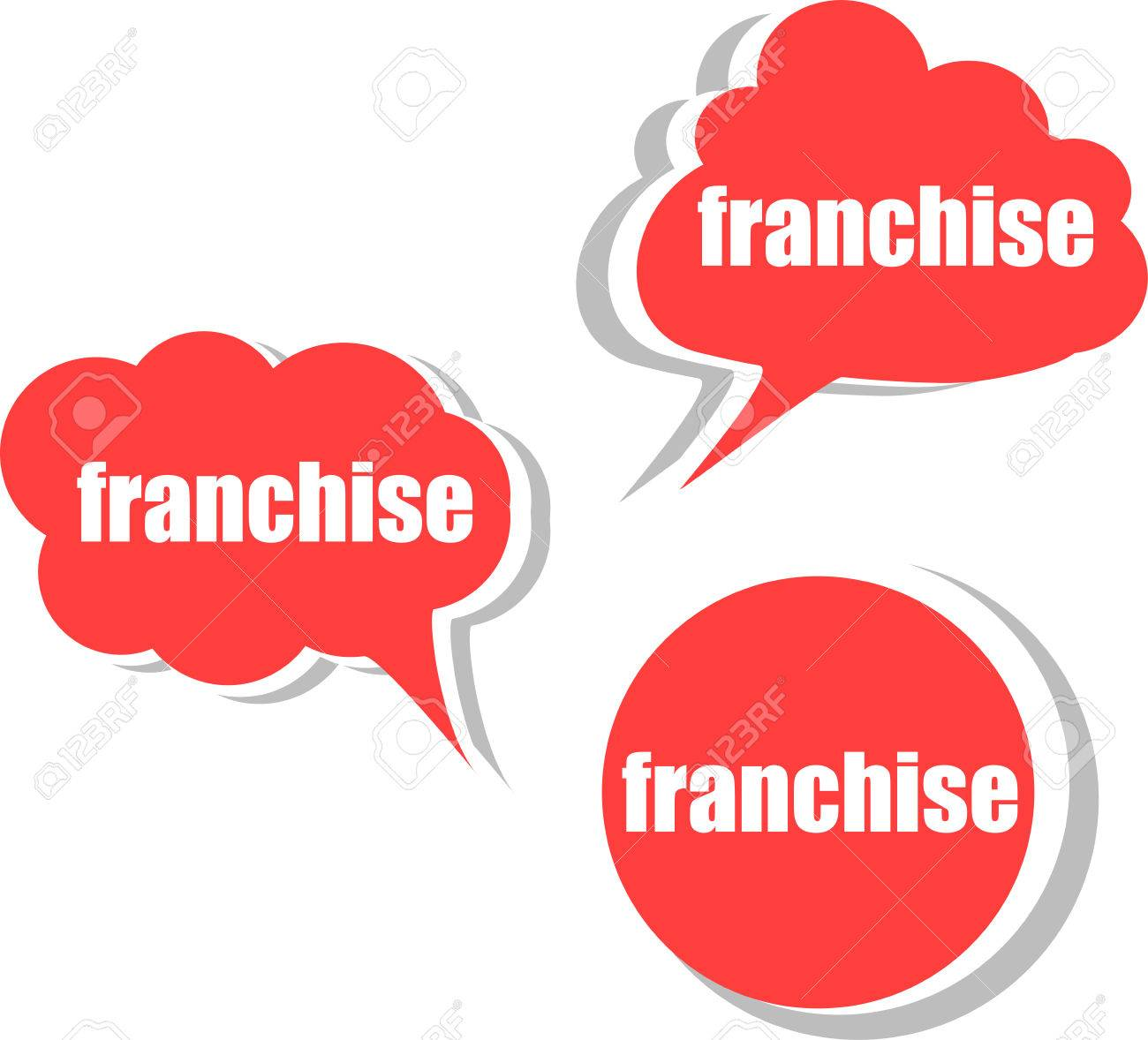 franchise set of stickers labels tags template for infographics