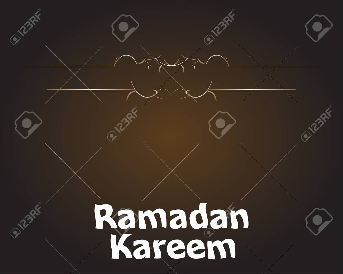 Islamic Greeting Arabic Text For Holy Month Ramadan Kareem Stock