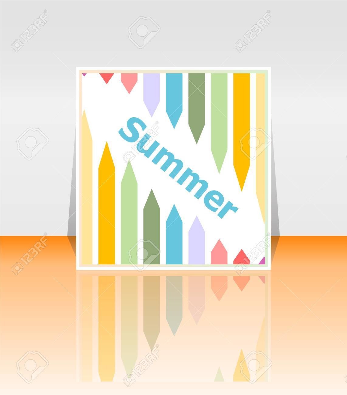 Attractive Hello Summer Poster. Summer Background. Effects Poster, Frame. Happy Holidays  Card,