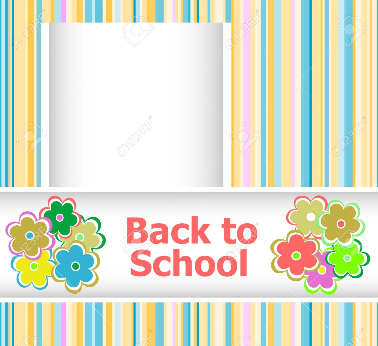 Back to school invitation card with flowers education concept stock back to school invitation card with flowers education concept stock photo 43804818 stopboris Image collections