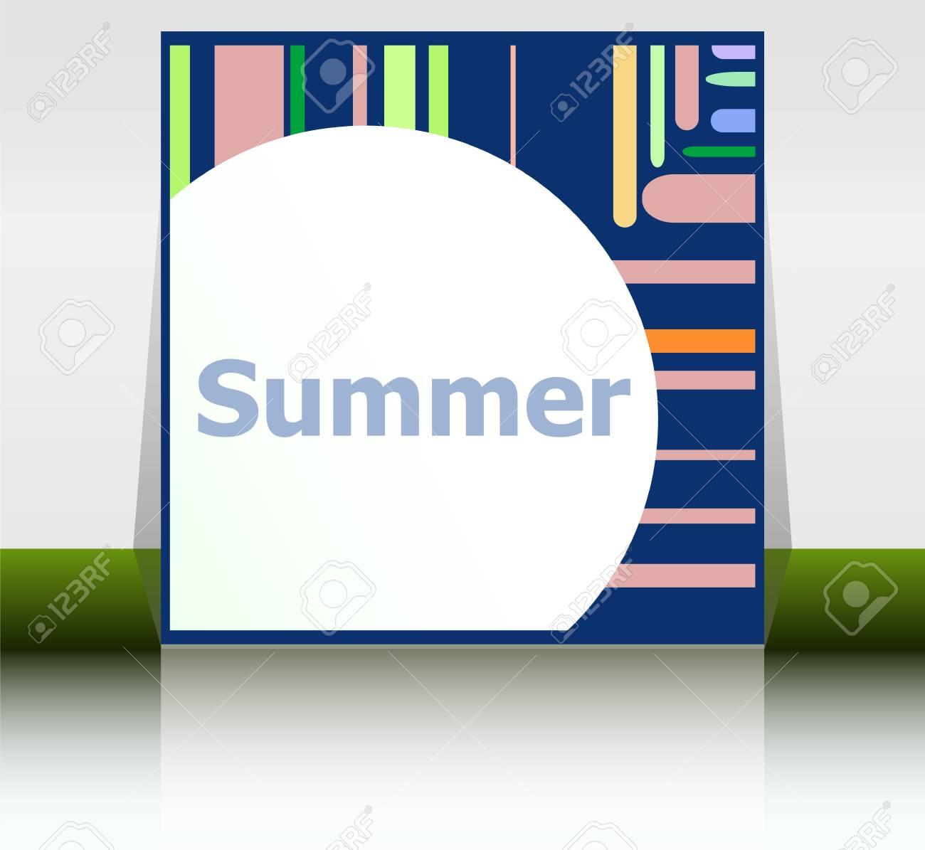 Hallo Sommer Poster. Sommer Hintergrund. Effekte Poster, Rahmen ...