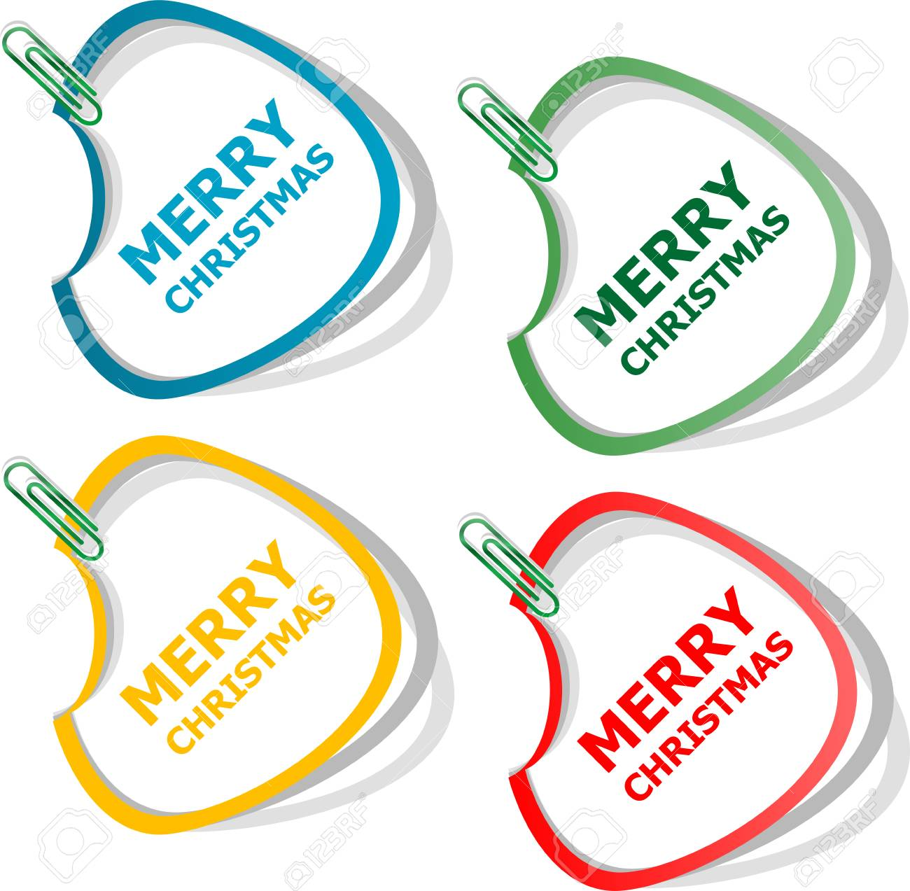 merry christmas stickers creative concept vector background for web and mobile applications happy new