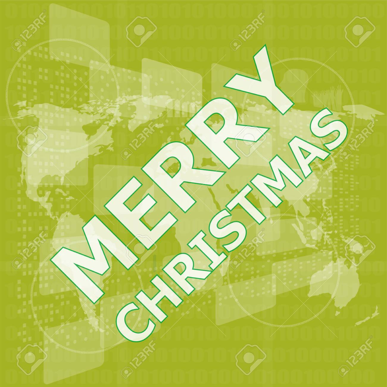 Merry Christmas Card Design Creative Concept Background For Stock