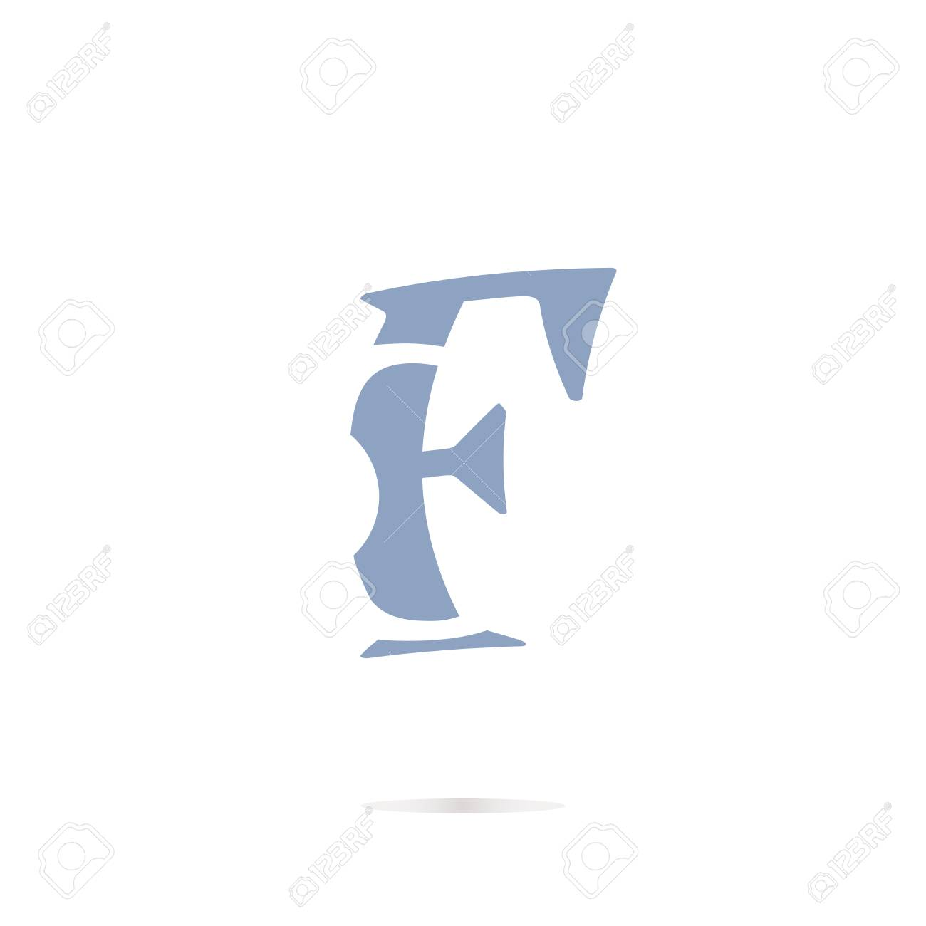 letter f logo icon design template elements stock photo picture and