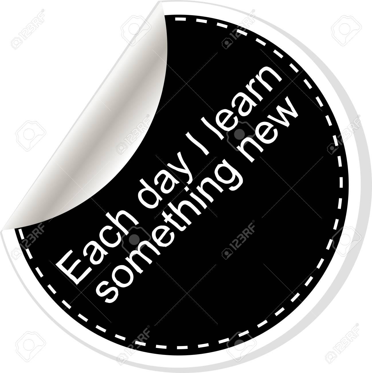 Cada Día Aprendo Algo Nuevo. Cita, Coma, Nota, Mensaje, Espacio En ...