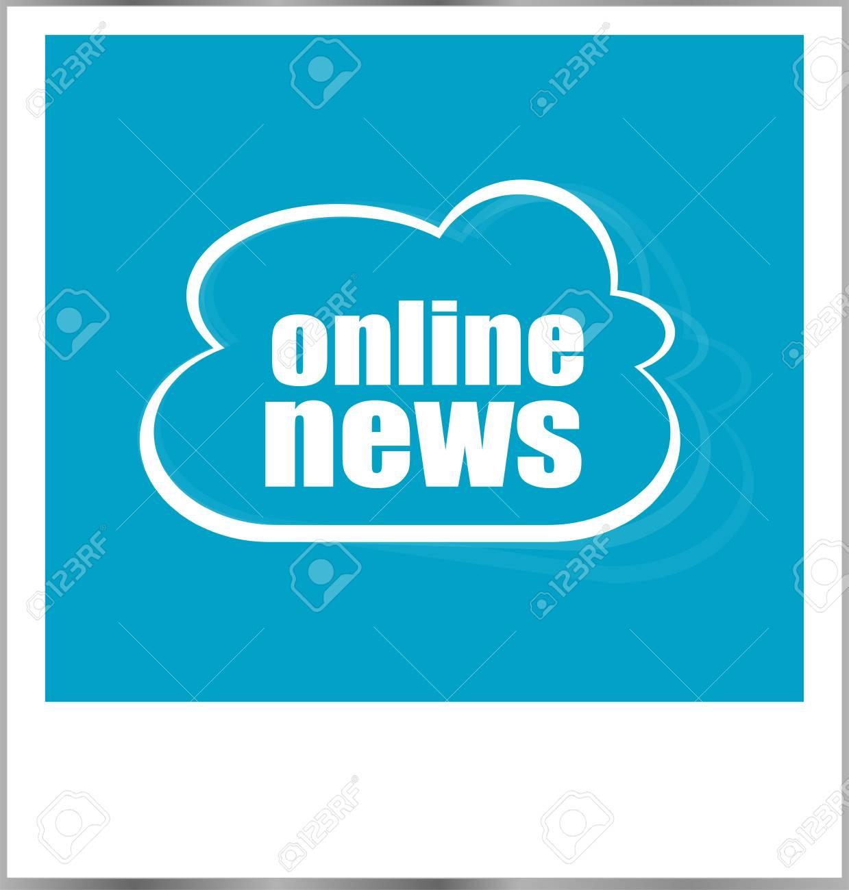 Online-Nachrichten-Wort Business-Konzept, Fotorahmen Isoliert Auf ...