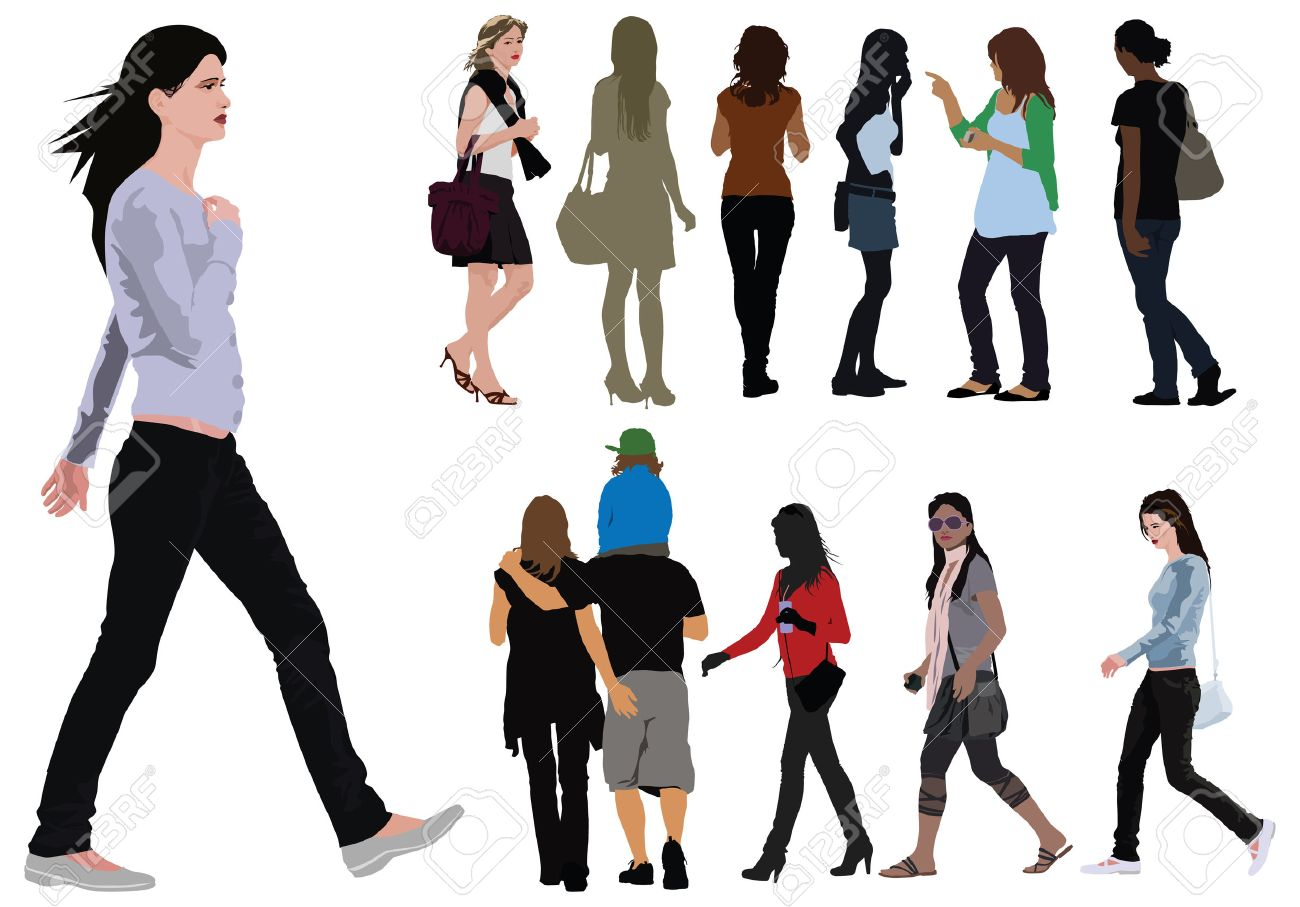 Young women illustration Stock Vector - 5425743