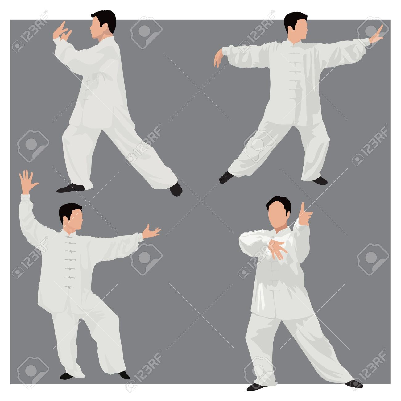 four forms of tai-chi. Stock Vector - 11087520