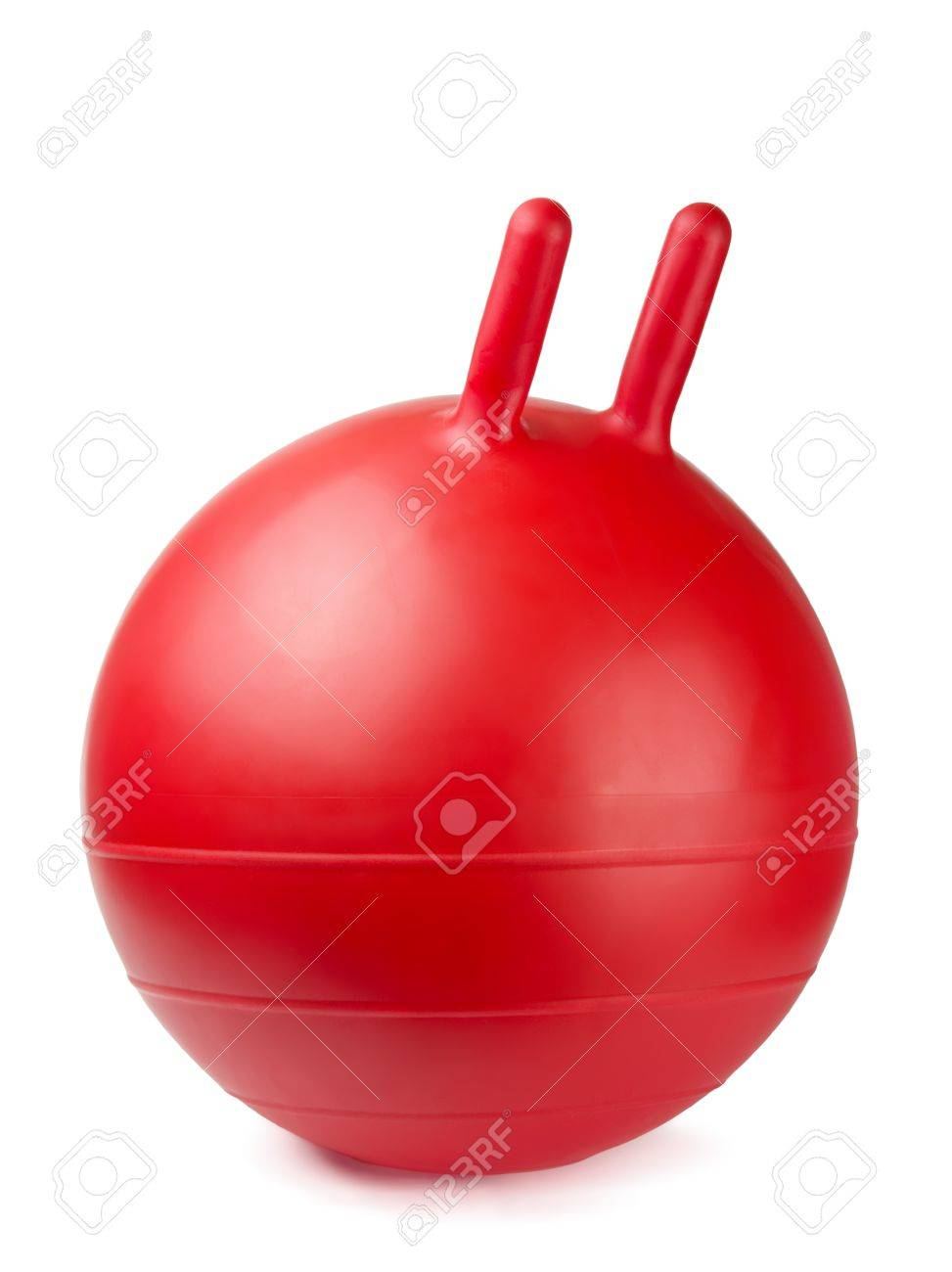 Red Jumping Gym Ball With Handles Isolated On White Stock Photo Picture And Royalty Free Image Image 9215056