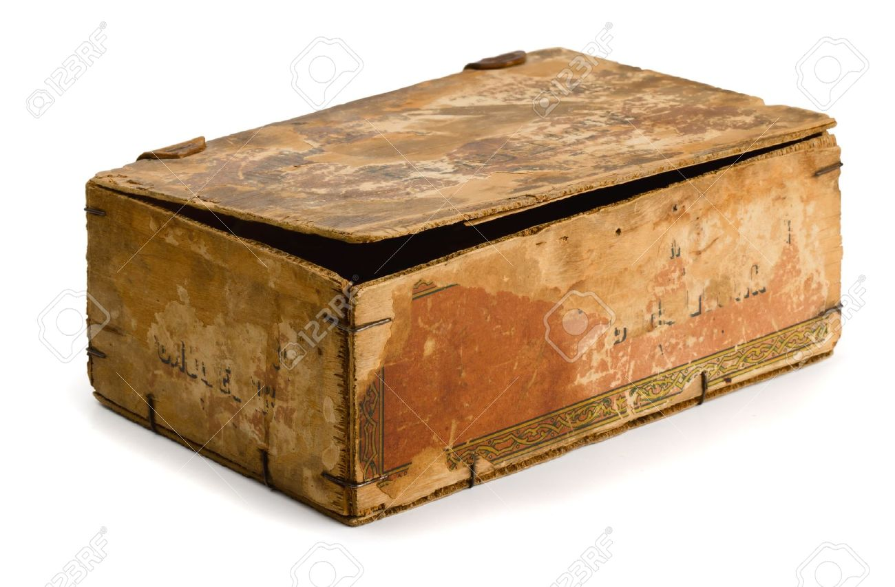 Old wooden box isolated on white Stock Photo - 12066179