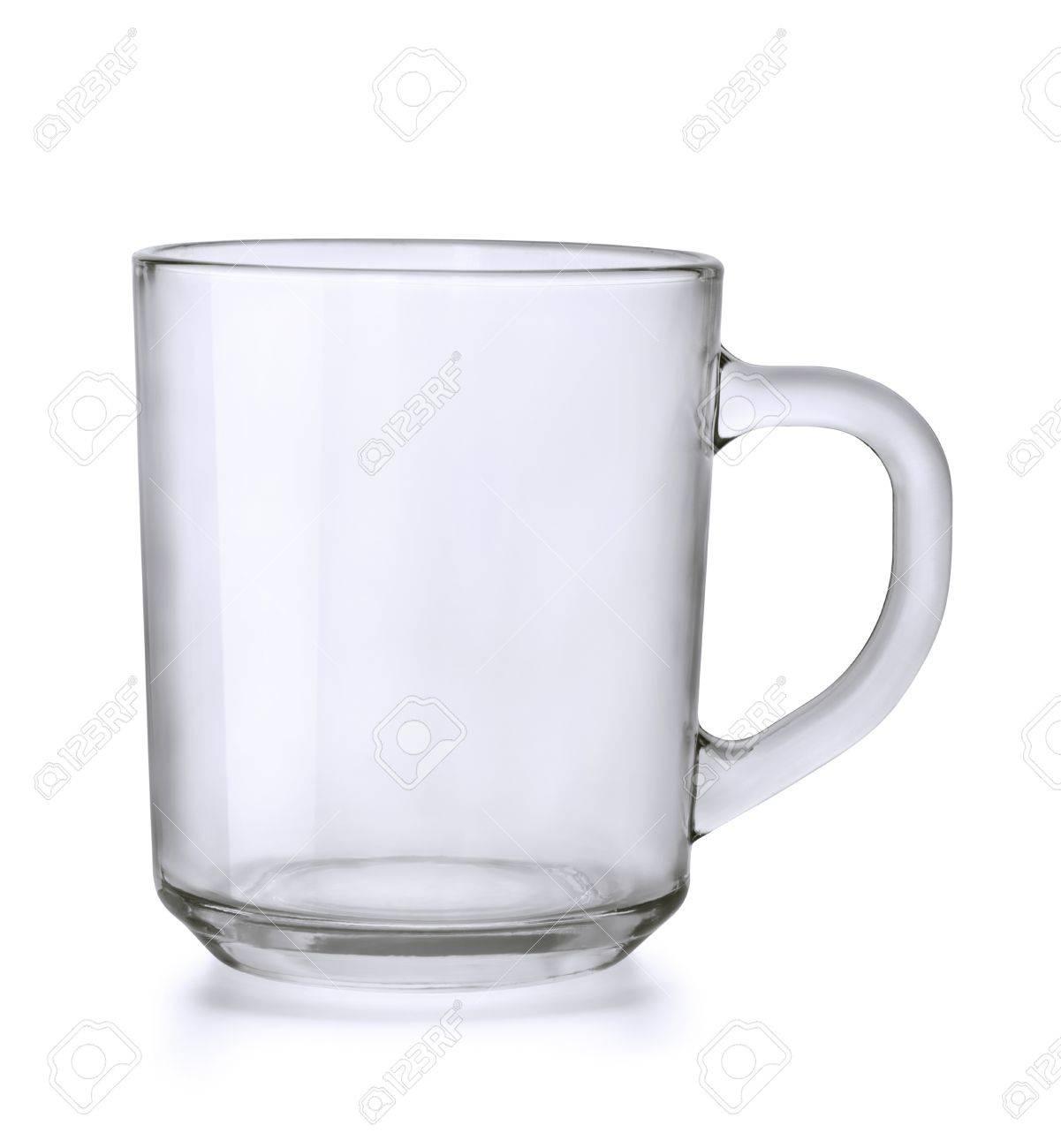 Empty glass tea mug isolated on white Stock Photo - 13336479