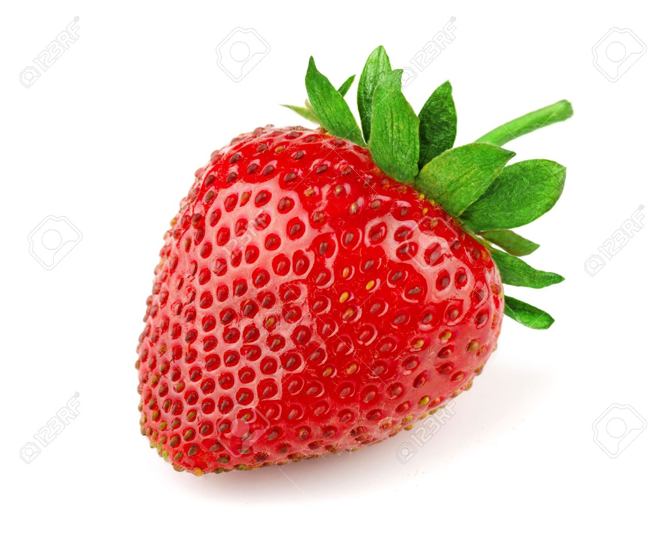 Fresh sweet strawberry isolated on white Stock Photo - 14291106