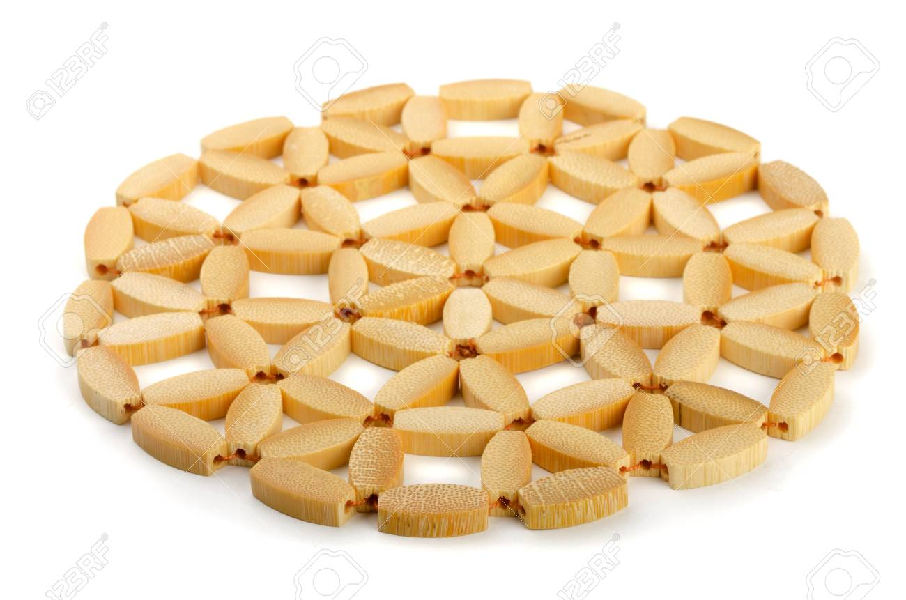 Round Bamboo Trivet Isolated On White Stock Photo Picture And Royalty Free Image Image 15034437
