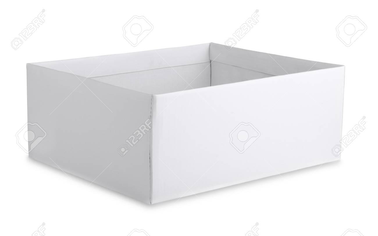Open cardboard white box isolated on white Stock Photo - 16584461