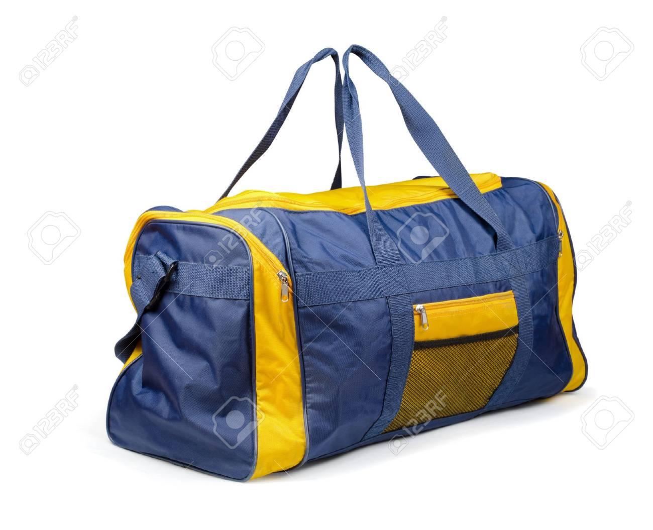 938bc2bd299 Large nylon sports bag isolated on white Stock Photo - 20946378
