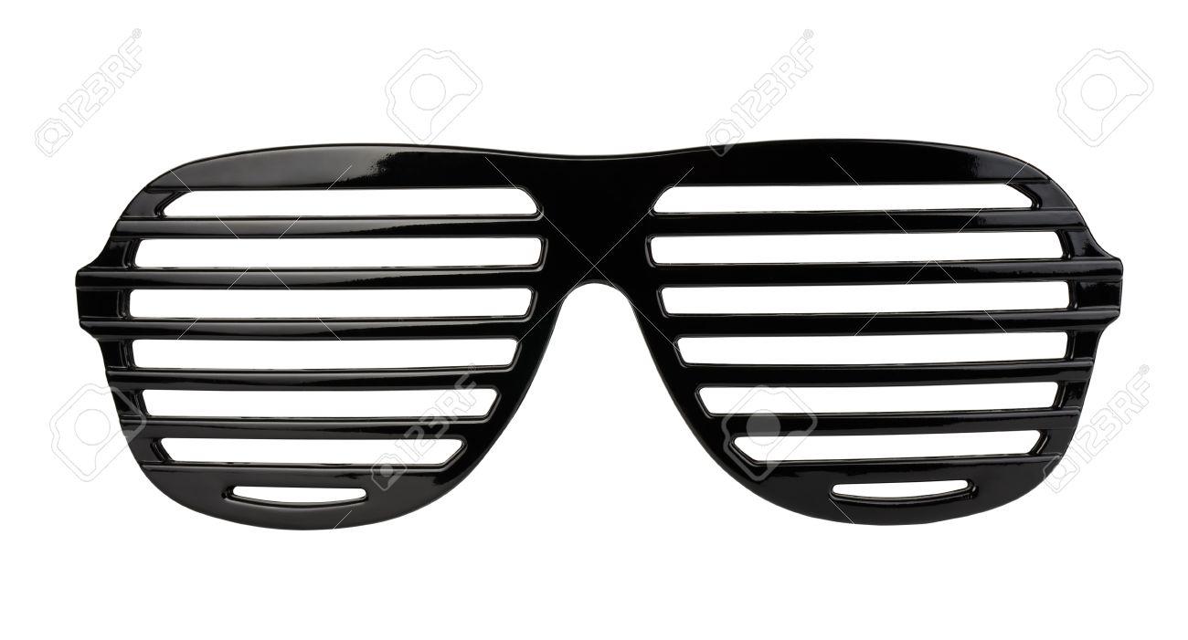 black shades glasses  Black Plastic Shutter Shades Sunglasses Isolated On White Stock ...