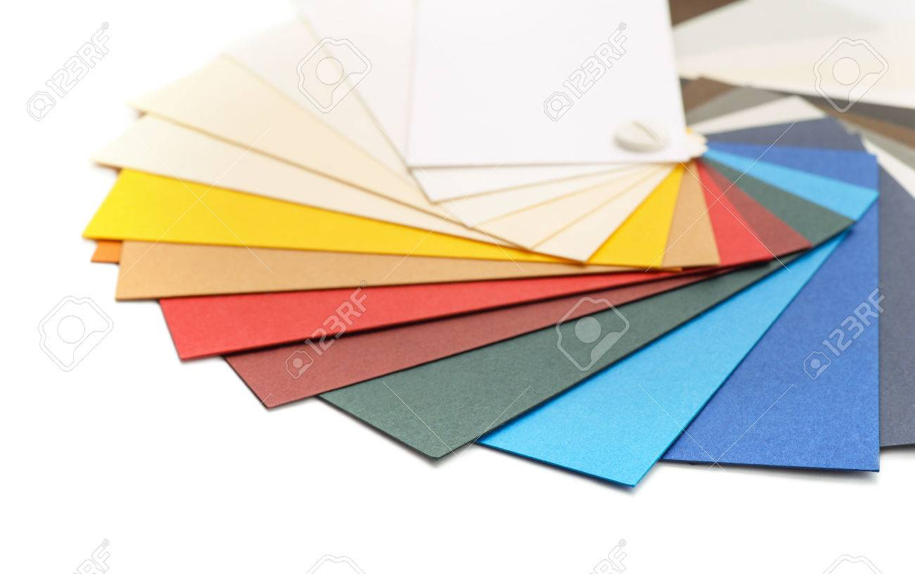 Colored card stock and envelopes - Samples Of Color Cardstock Paper Stock Photo 41239079