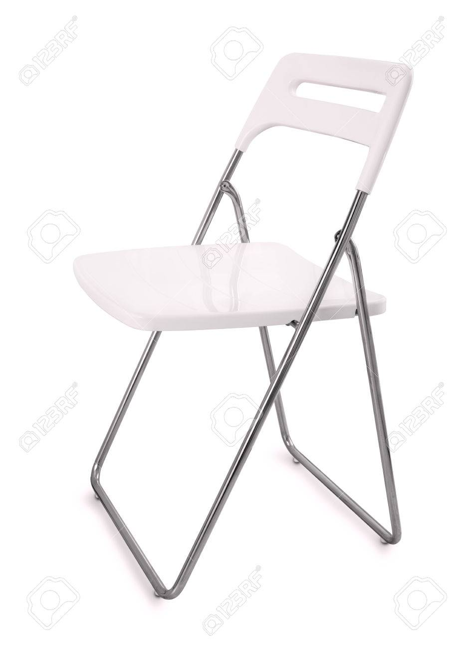 Pliante Plastique Chaise Isolé Sur Blanc kZuOwliPXT