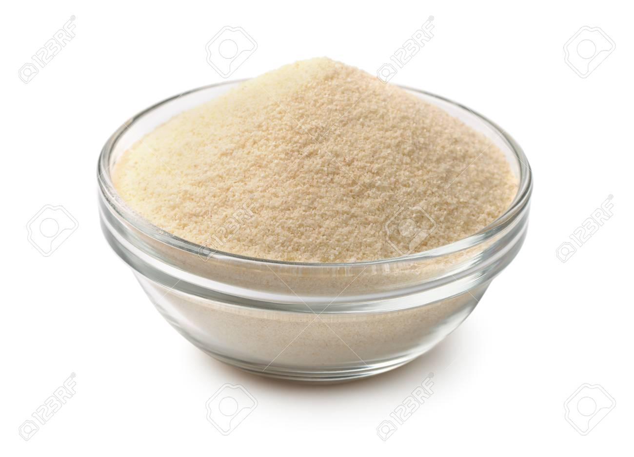 Bowl of semolina isolated on white - 48066299