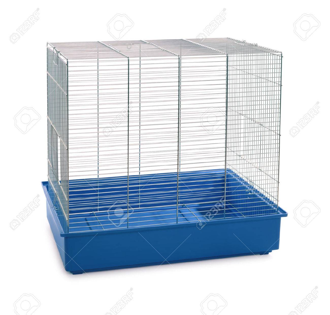 Empty animal cage isolated on white - 52794026
