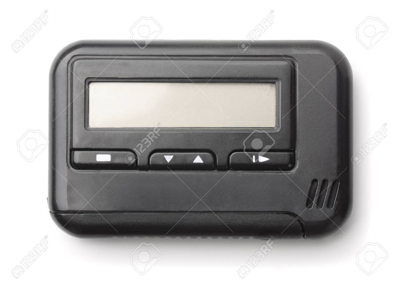 Old pager isolated on white - 57840489