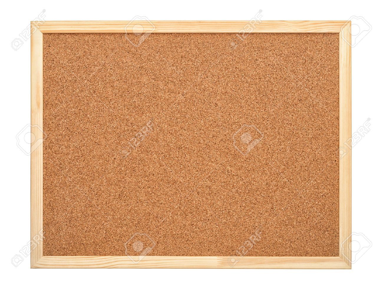 Blank cork board with wood frame isolated on white - 57953984