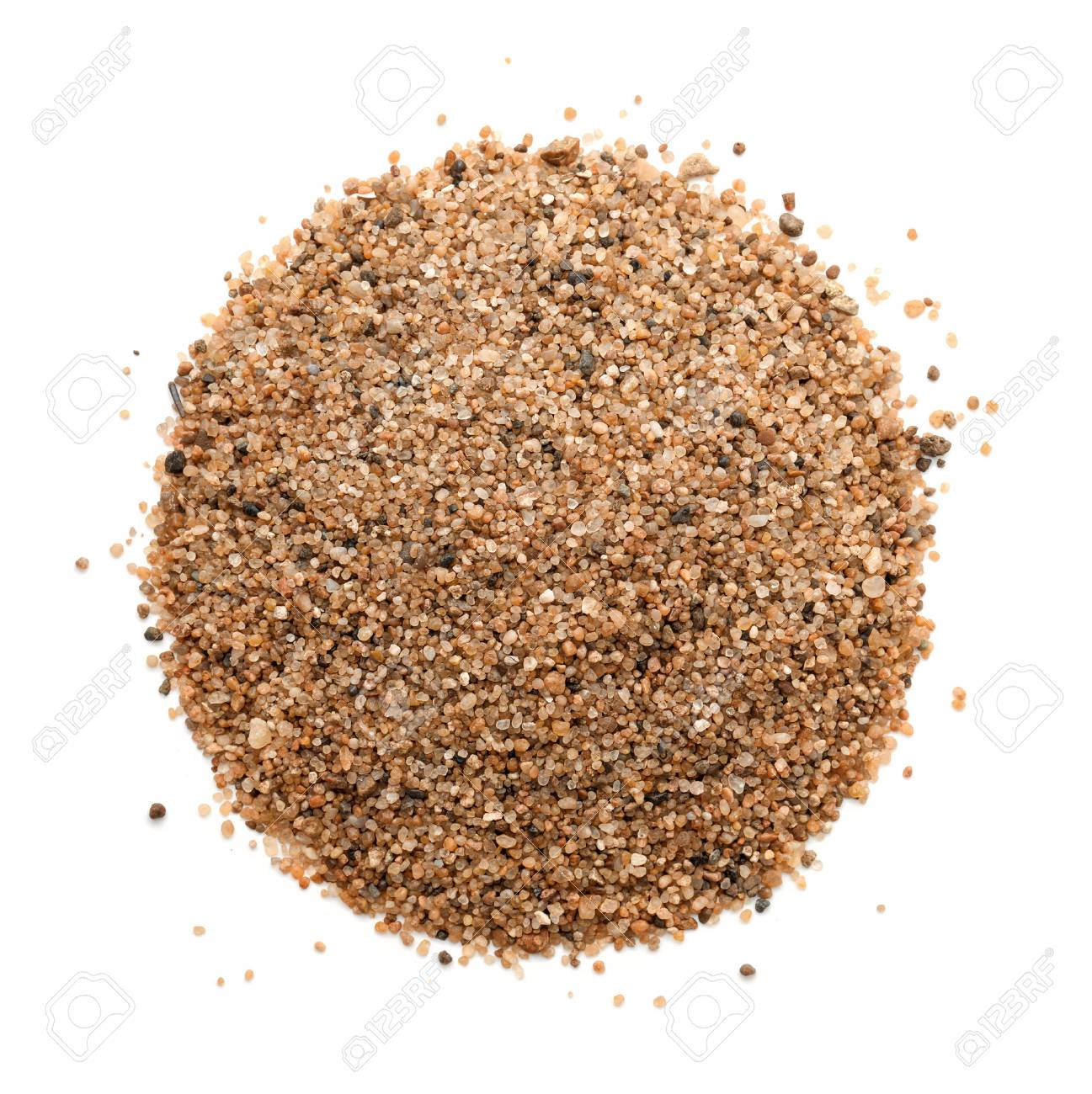 Top view of sand heap isolated on white - 66539556