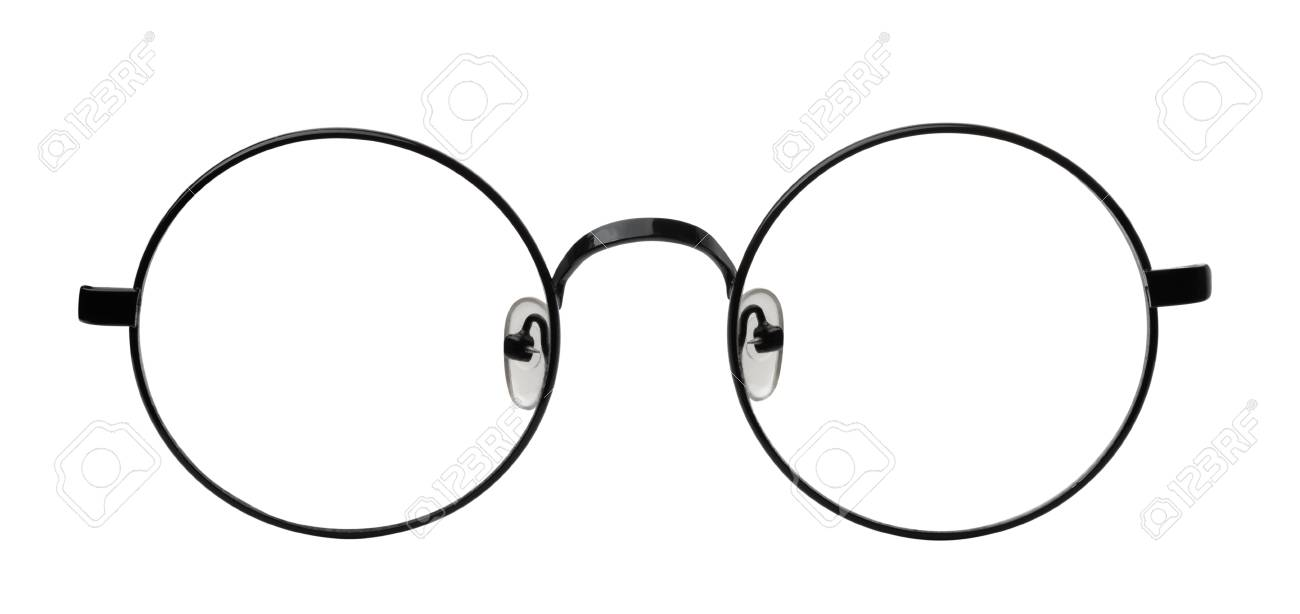 Front View Of Round Eyeglasses Frame Isolated On White Stock Photo ...