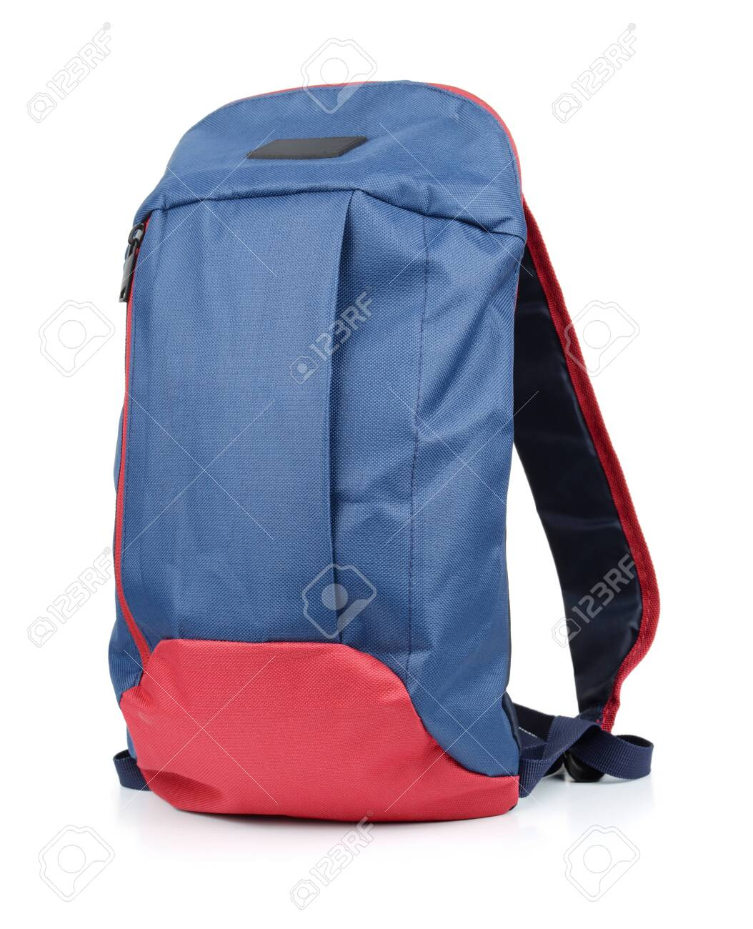 Small blue backpack isolated on white - 130323039