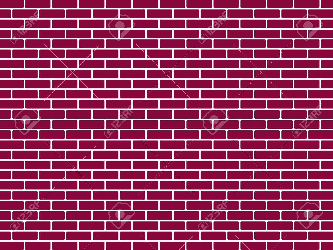 Red brick wall background vector illustration - 86412120