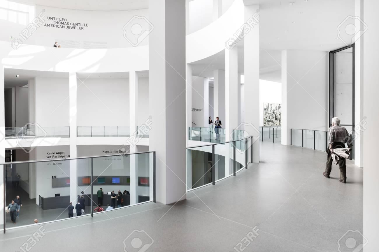 MUNICH, GERMANY - FEB 3 2016: The Pinakothek der Moderne is a