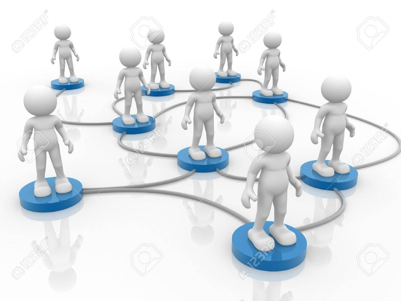 d people human character arranged in a network d render 3d people human character arranged in a network 3d render illustration stock illustration