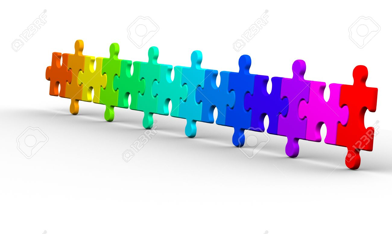 Jigsaw Puzzle Pieces This Is A 3d Render Illustration Stock Photo