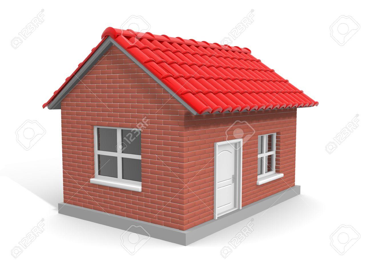 una casa de ladrillo esta es una ilustración 3d fotos retratos