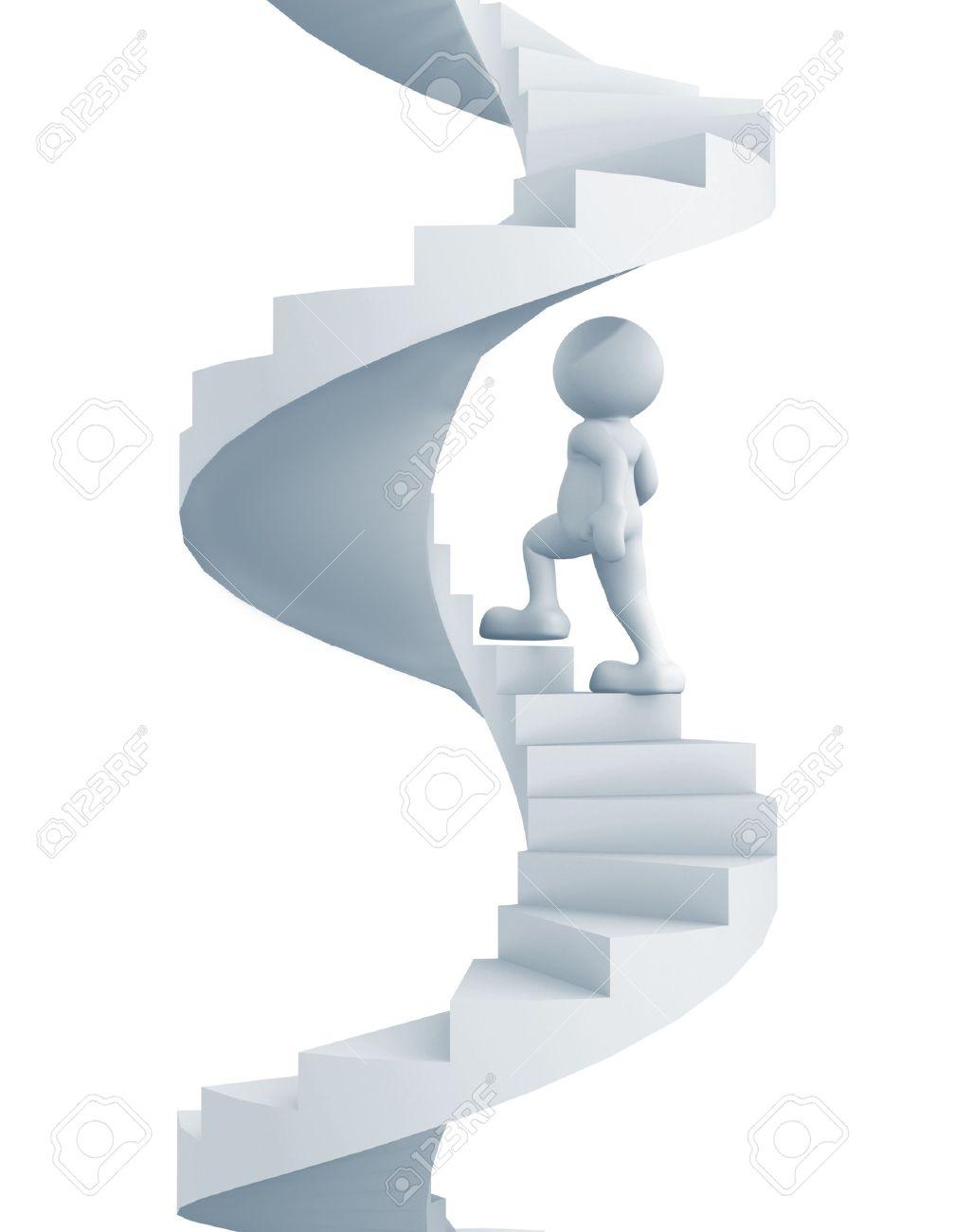 La Gente 3d - Carácter Humano Subir La Escalera De Caracol ...