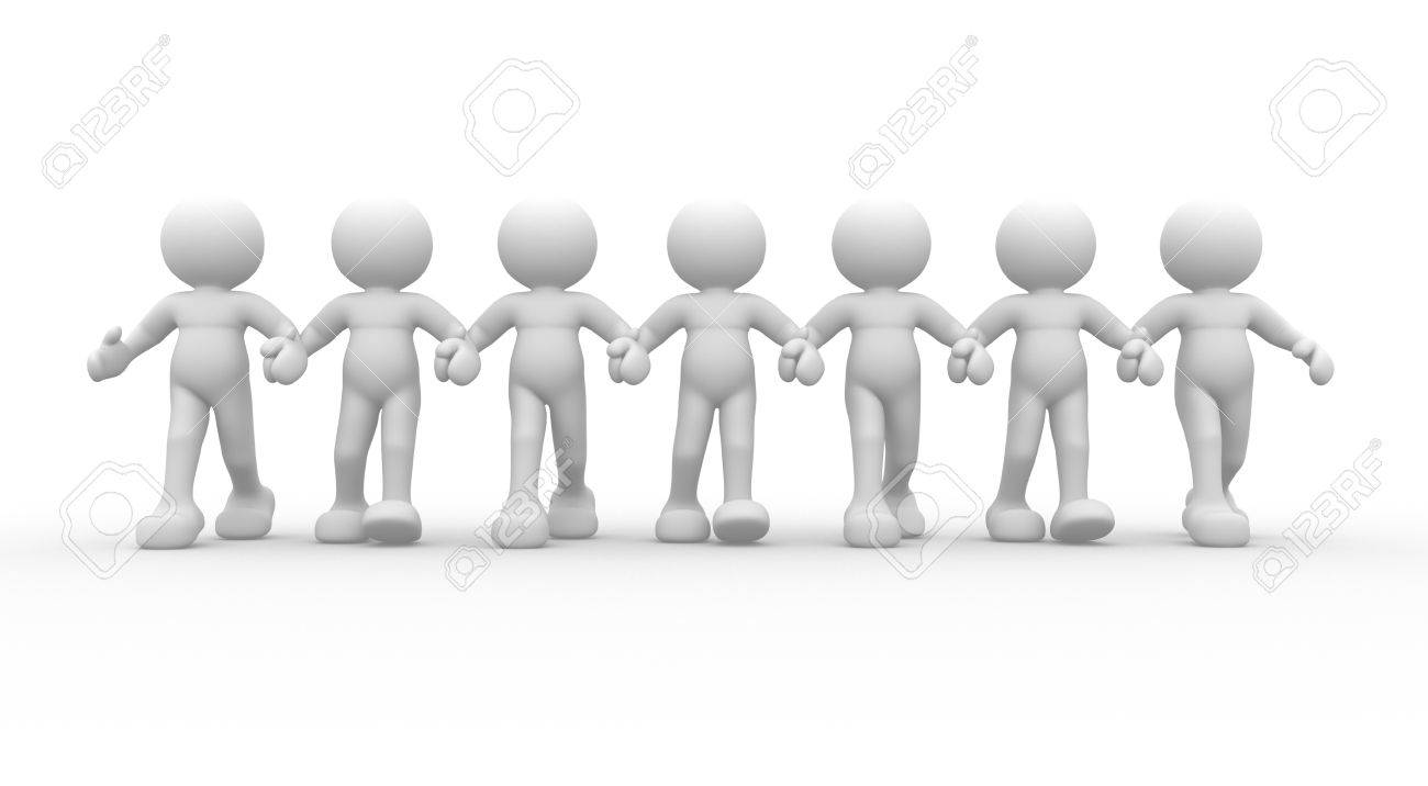 3d people - human character- team  This is a 3d render illustration Stock Illustration - 14767274