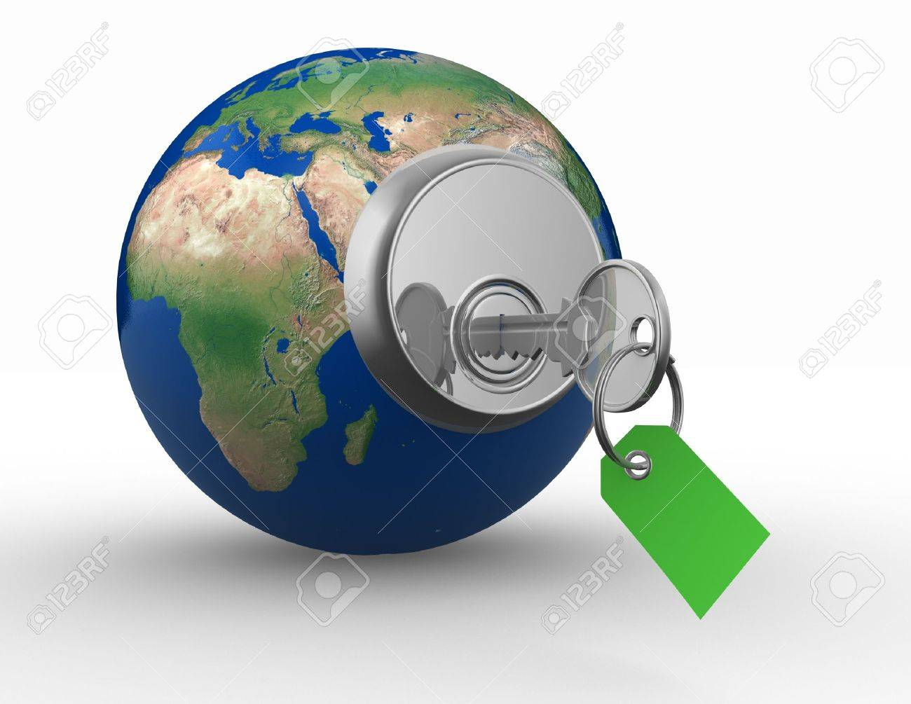 Open the world . Safety concept. 3d render illustration Stock Photo - 14802679
