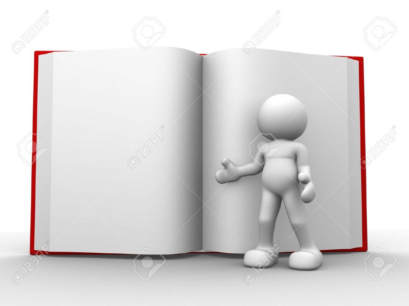 3d people - human character, person with a open book. 3d render Stock Photo - 14801798
