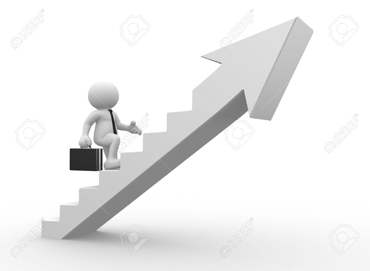 3d People - Man, Person Climbing Stairs With Arrow . To Success ... for Climbing Stairs To Success  570bof