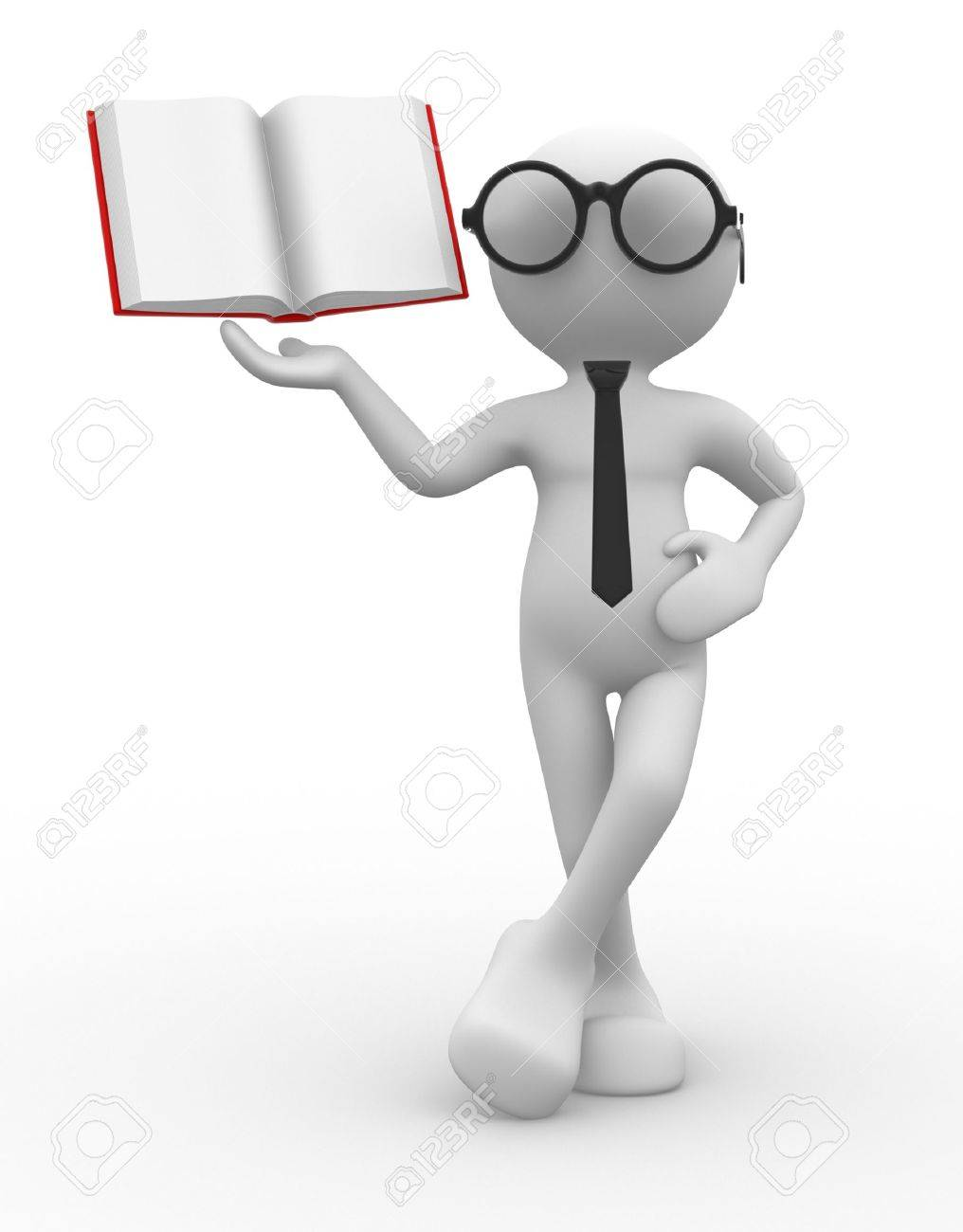 3d people - man, person and a book. Stock Photo - 14814987