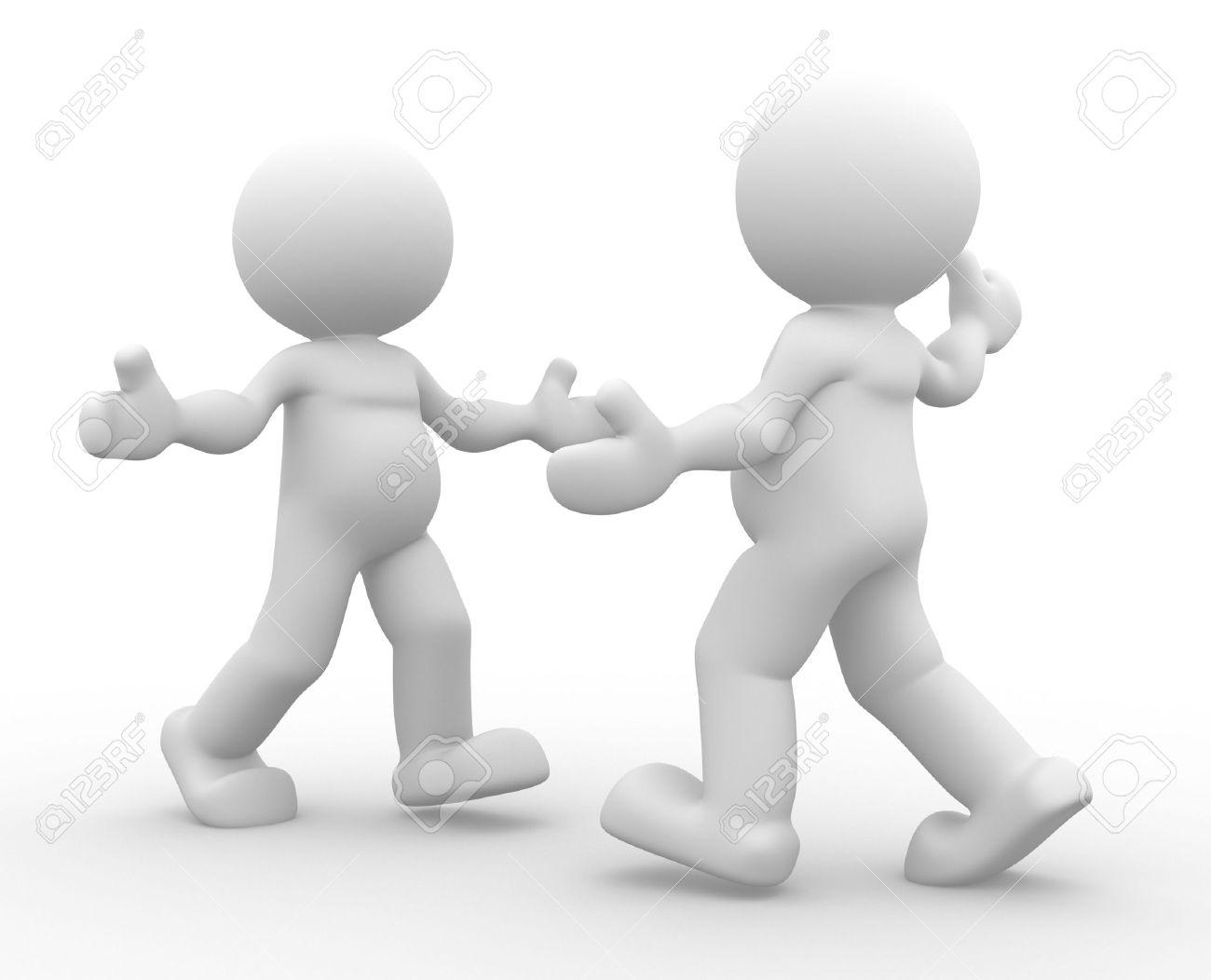 3d people - men, person.  Hug. Retrieval.  The concept of friendship Stock Photo - 14815122