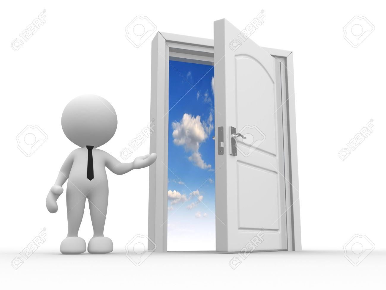 3d people - man person and a open door to heaven Stock Photo - 15017713  sc 1 st  123RF.com & 3d People - Man Person And A Open Door To Heaven Stock Photo ...