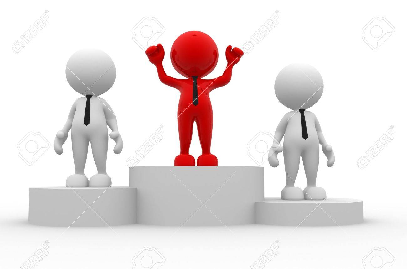 Men holding the word party concept 3d illustration stock photo - Contest 3d People Men Person On Podium The Concept Of Business Success
