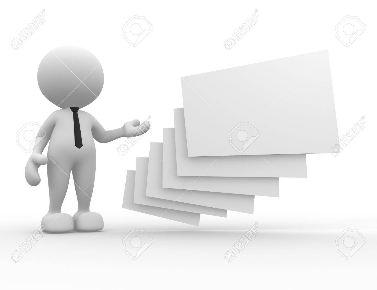 3d People - Man, Person With Blank Frames Stock Photo, Picture And ...