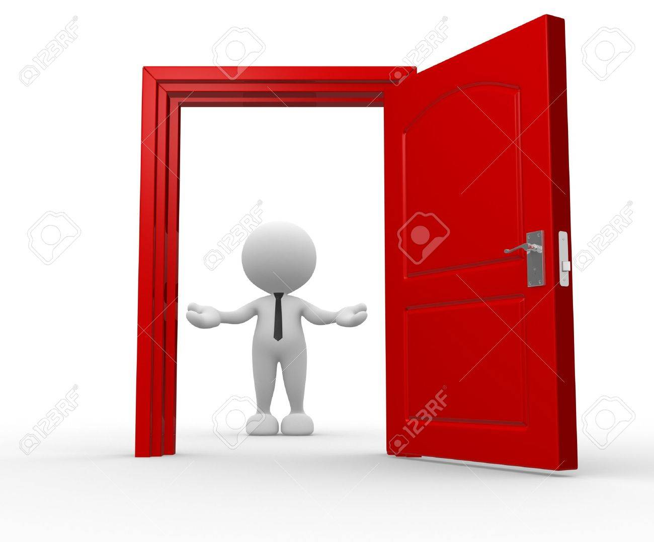 open door welcome. Beautiful Welcome 3d People  Man Person And A Open Door Businessman Welcome Stock Photo Intended Open Door