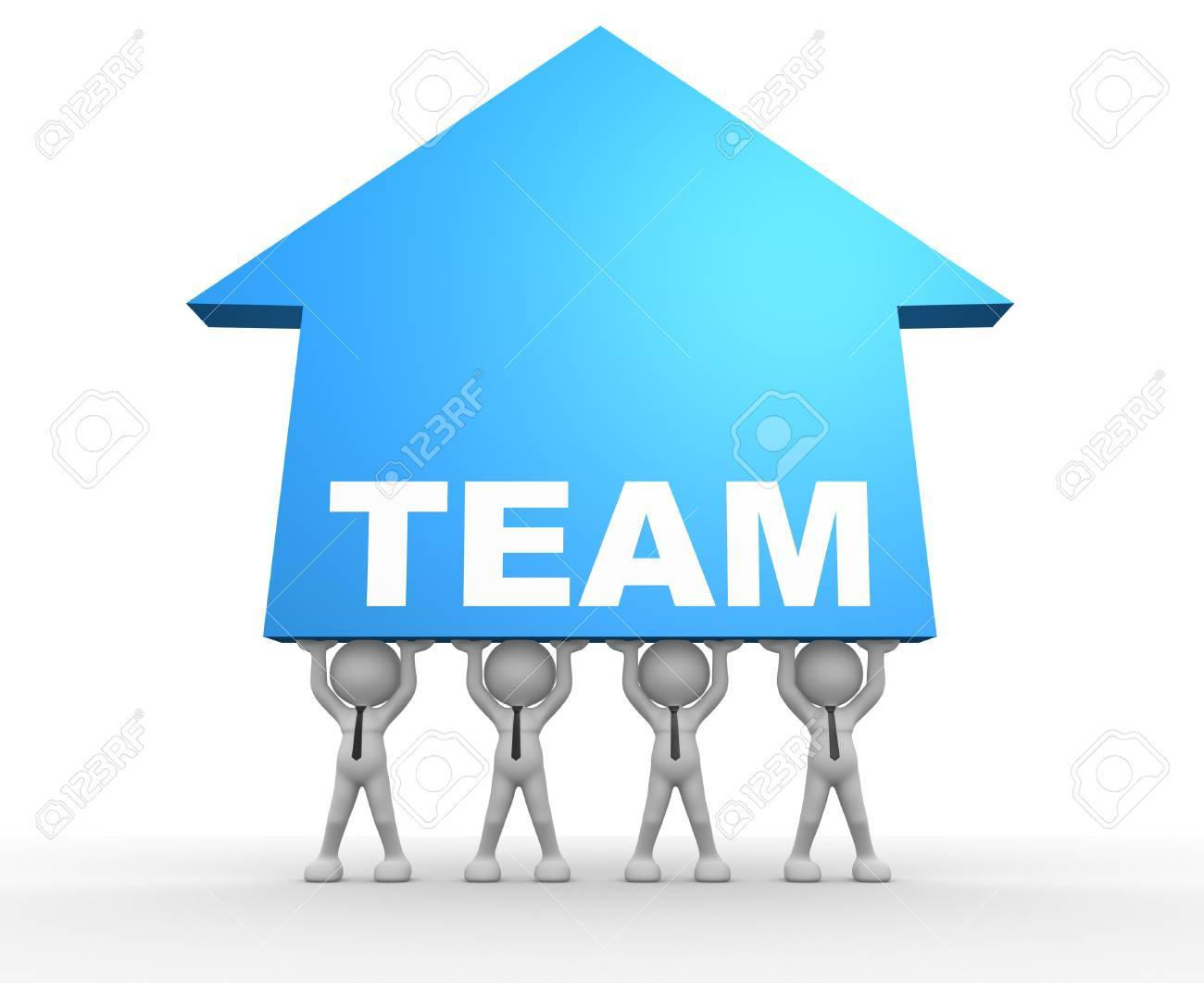 3d people - man, person with an arrow growth. Concept of teamwork Stock Photo - 17276686