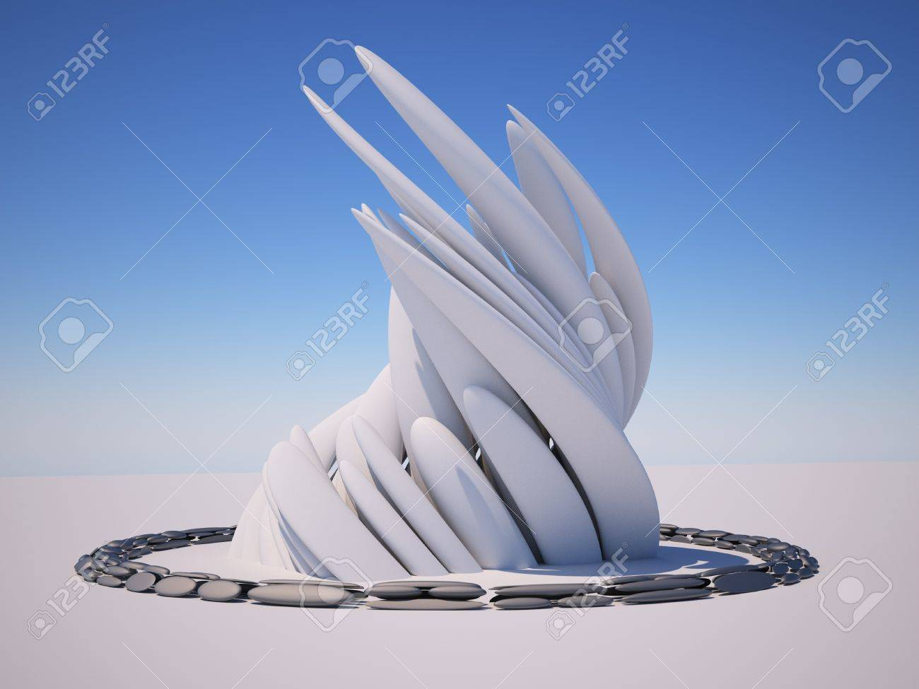 3d Abstract Architecture. 3d render illustration Standard-Bild - 17532556