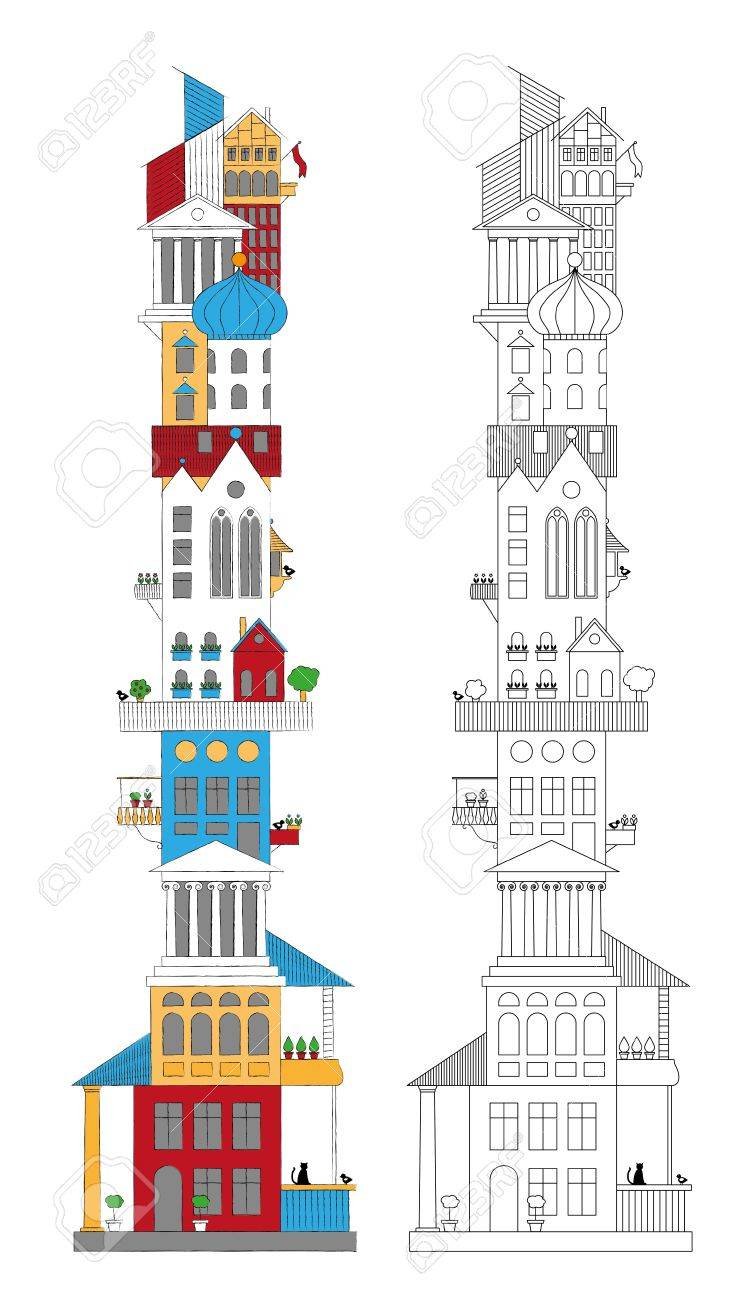 ower Of Different rchitectural Styles oyalty Free liparts ... - ^