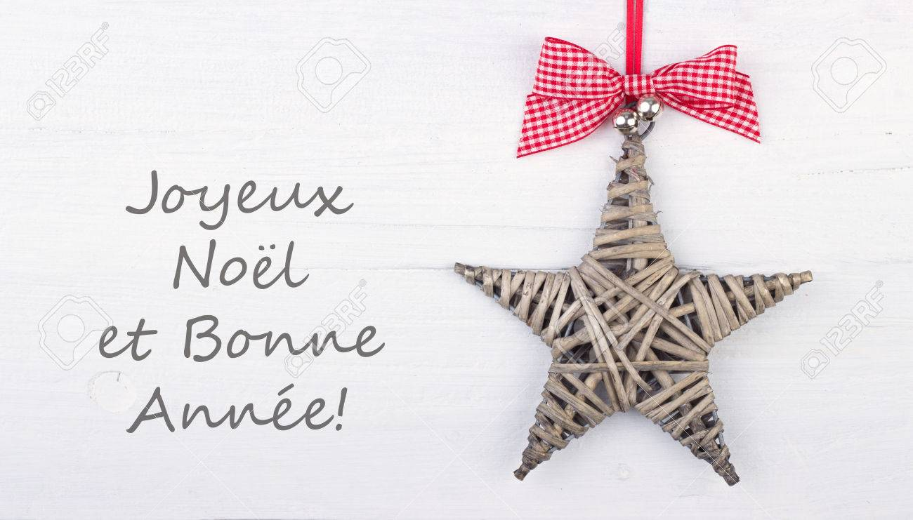 French Christmas Card With Star Stock Photo, Picture And Royalty ...