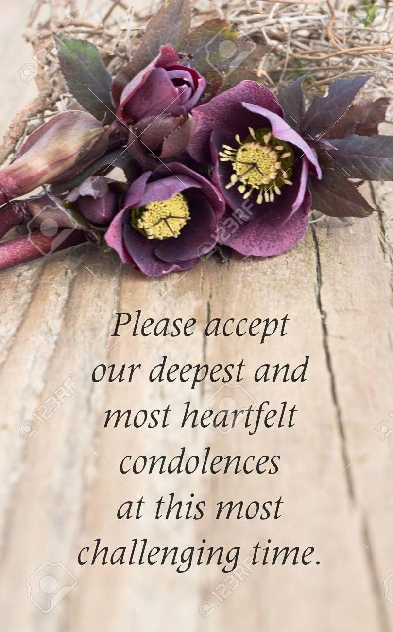 Carte De Condoléances Avec Christroses Sombres